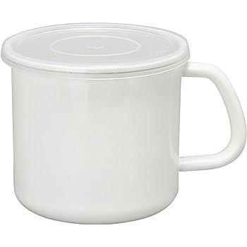 野田琺瑯 保存容器 持ち手付き ストッカー 丸型 S ホワイト 1.0L 113-0320