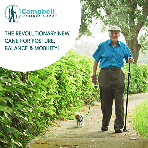 The Original Campbell Posture Cane Foldable Walking Cane for Men and Women