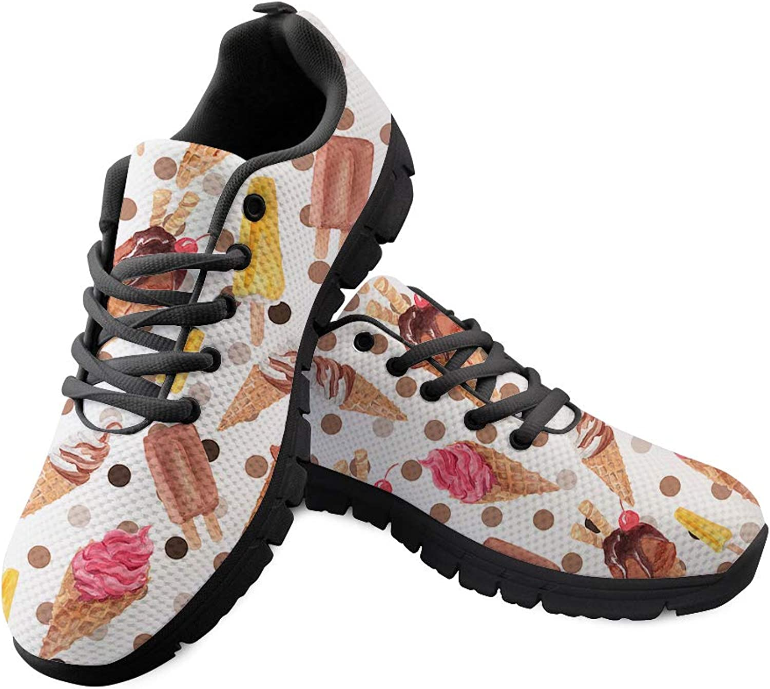 Chaqlin Ice Cream Pattern Fashion Sneakers Women Casual Walking shoes Sports Running Size 38