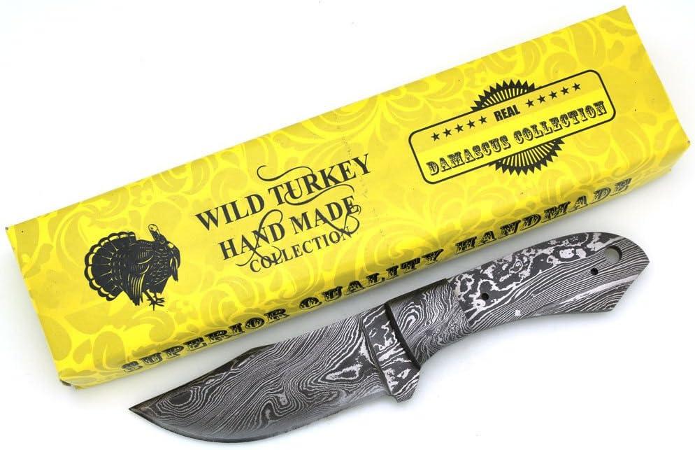 Wild Turkey Handmade Custom Full Tang Damascus Steel Blank Blade
