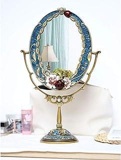 AINIYF Makeup Mirror European Double-Sided Desktop Mirror Creative Princess Dressing Mirror Makeup Mirror Desktop Makeup Mirror
