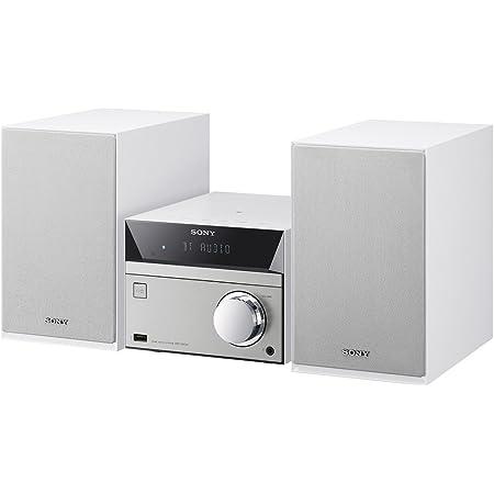 ソニー マルチコネクトミニコンポ CMT-SBT40 : Bluetooth/FM/AM/ワイドFM対応 ホワイト CMT-SBT40 W
