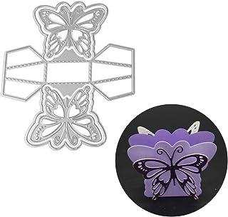 floatofly Matrices De Découpe Machine en Métal Bricolage Matrices De Découpe, Exquise 3D Papillon Bonbons Boîte-Cadeau Déc...