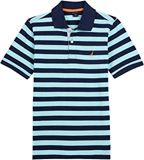 Boys' Short Sleeve Striped Deck Polo Shirt