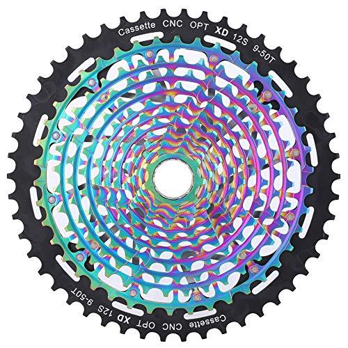 RiToEasysports Bike Flywheel Cassette,Bike Flywheel 9-50T Integration Freewheel Ultralight Hollow Out 11/12 Speed for Mountain Bicycle(12 Speed)