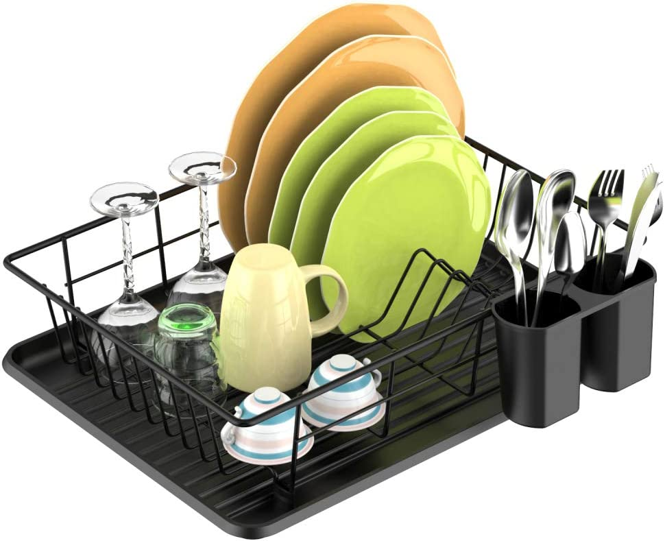 Dish Drying Rack F-color Inexpensive Max 53% OFF with Utensil Tray Water Hol