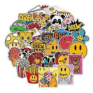 JZLMF 50 dibujos animados anime Smiley cara pegatinas decorativas pequeños patrones divertidos maletas mareas marca impermeable portátil