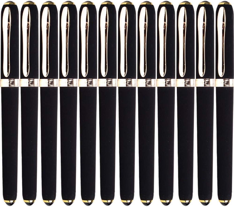 PENZZ Briefpapier 0,7 Mm Schwarzer Gelstift Stift Geschäft Unterschrift Stift Mattiert Stift 12   Box B07QDJLDD2 | Authentisch