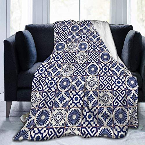 Manta Polar con Flecos | Mezcla de inspiración marroquí de Estilo otomano antiguoAdecuada para Todas Las Estaciones (200 x 150 cm)