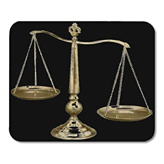 Yanteng Mouse Pads Mouse Pads Law Gold Scales of Enforcement Lawyer School College Mouse Mat Mouse Pad Suitable for Notebo...