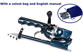 Amitfo Fishing Rods Pocket Fishing Rod and Reel Combos Integrated Telescopic Fishing Rod with Line Youth Fishing Gear Mini Fishing Pole for Kids