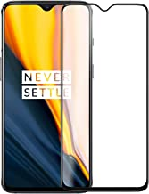 Doubledicestore Edge to Edge 6D Tempered Glass Compatible with oneplus 7 Full Coverage (Black)