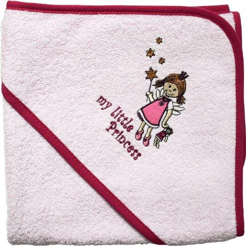 Mauz Grande serviette de bain à capuche en tissu éponge 100 x 100 cm (Little Princess Rose)