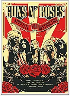 Posters Royale Guns N Roses American Hard Rock Band Quoted Rolled Poster GR104- 12 x 18in (Multicolour )