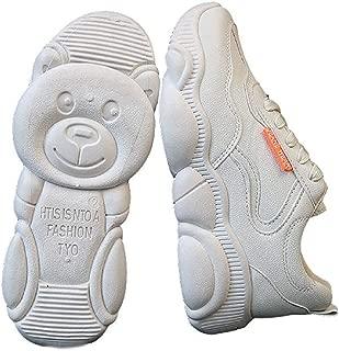 [スリーピングシープ] かわいい 足跡 クマさん 厚底 おもしろ レディース スニーカー カジュアルシューズ