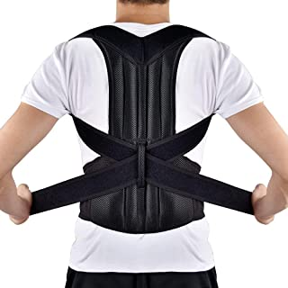 Back Posture Correction, HailiCare Full Back Brace Shoulder Posture Corrector for Upper Lower Back Support, Brace to Relieve Slouch, B Slouch, Back Pain, Thoracic Kyphosis (35