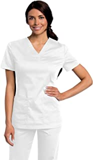 All Day Women's Modern Fit Y-Neck Scrub Tunic