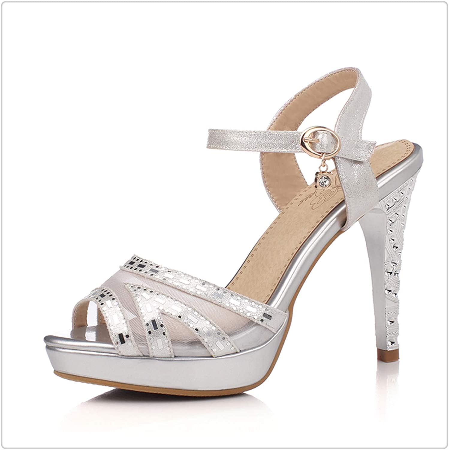 Yyixianma Large Size Sexy Thin high Heels Women Crystals Summer Sandal shoes Party Sandals