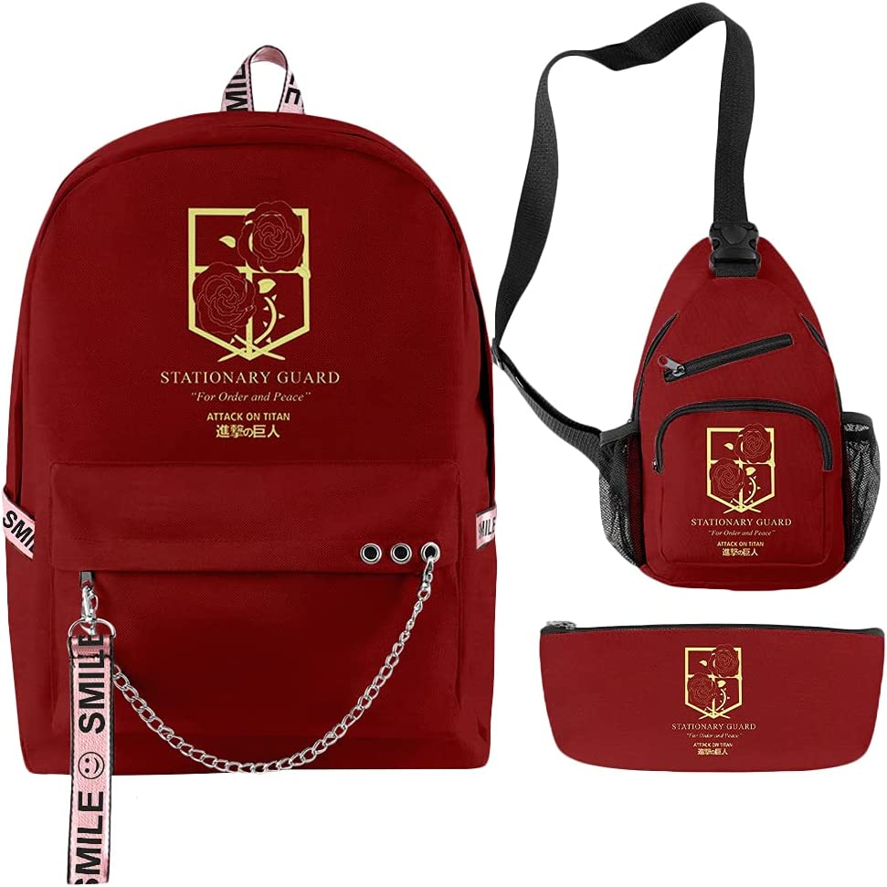 Attack Ranking TOP7 On Titan Backpack Set for Boys Scho 3D Anime Girls All stores are sold School