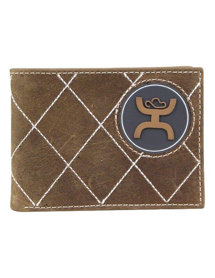 思い出させる学習者転用Hooey署名ブラウン二つ折り財布W /ゴムHooeyロゴ?–?1623161?W8