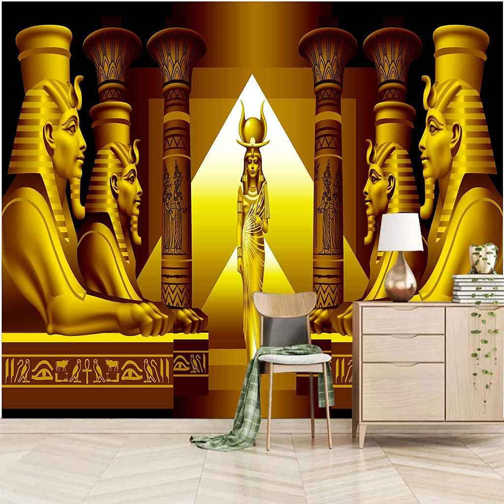 UPFGWJ Wall Ranking TOP13 murals for bedrooms Golden 79x55 Mu in Figure Fashion Statue