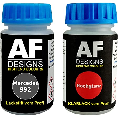 Tristarcolor Autolack Spraydosen Set Für Mercedes Daimler Benz 992 Selenitgrau Metallic Basislack Klarlack Sprühdose 400ml Auto