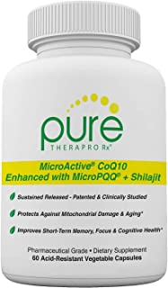 "Sponsored Ad - MicroActive CoQ10 Enhanced with MicroPQQ + Shilajit ""Sustained Release"" 60 Veg Caps 
