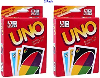 UNO Playing Card Game Standard Classic (2 Pack, classic)