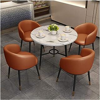 Salle À Manger Tables Et Chaises Combinaison Marbre Table Ronde Loisirs Canapé Cuir Siège Chaise Cuisine Home Restaurant S...