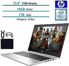 2019 Newest HP Probook 450 G6 Full HD 1920x1080 Flagship Premium Business Laptop, Intel 4-Core i7-8565U, 16GB RAM, 1TB SSD, Bluetooth, Webcam, Win 10 pro w/ Hesvap Accessories