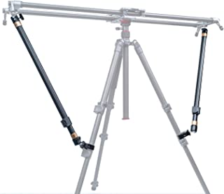 Tripod Stability Arms for Slider Camera Dolly Track Rail Increasing Stability Lightweight Adjustable Length (2 Arm in) - AKUGE