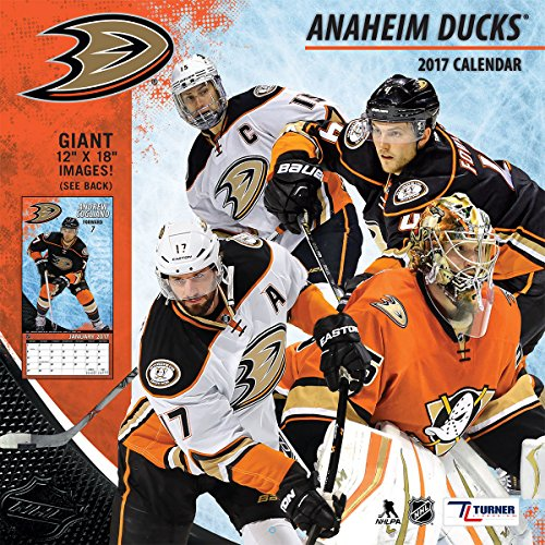 "Turner Licensing Sport 2017 Anaheim Ducks Team Wall Calendar, 12""X12"" (17998011931)"