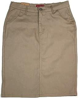 Women's Uniform 24 Inch Stretch Plus Size Twill Skirt (Run Small See Measurement Size)