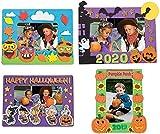 Halloween Magnet Picture Frame Craft Kit Set - Four (4) Kits - Funny Face Pumpkin, Peanuts Halloween, Pumpkin Patch & More! - 5' - 7' Kids Crafts Family Activities - Refrigerator Decor - Bundle 5-Item