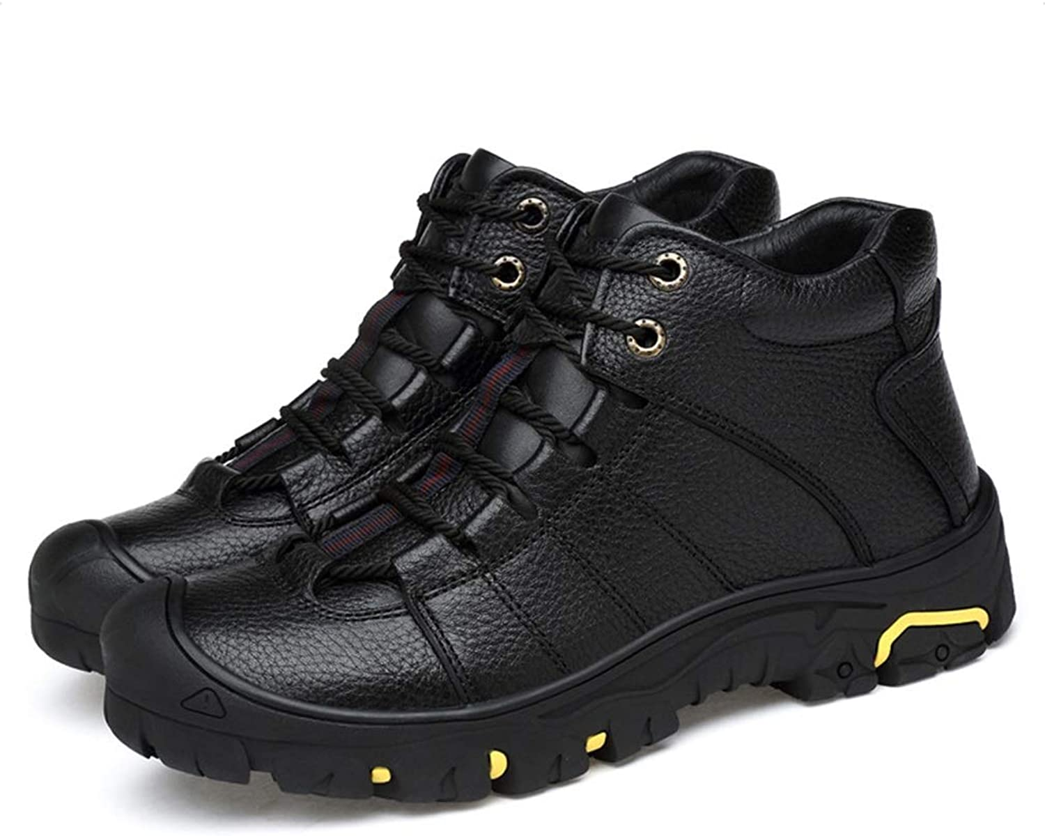 Men's Boots New Keep Warm Martin Boots Outdoor High-top Non Slip Tooling shoes Fall Winter Work Driving shoes (color   A, Size   42)