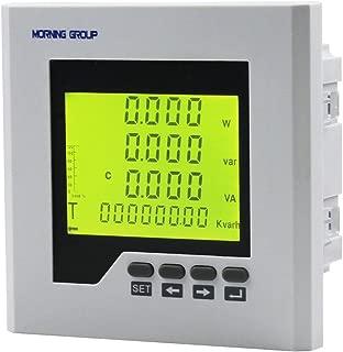 MorningGroup3PhaseLCDDigitalDisplayCurrentVoltageMultifunctionEnergyPower PanelMeterWithRS485ModbusCommunicationForDistributionBox(3D2Y(Panel Size:4.724.72in))