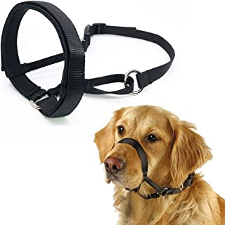 Barkless Quick Fit Nylon Dog Muzzle, Adjustable Loop, Anti-Barking, Biting and Chewing Muzzle for Small, Medium, Large Dogs