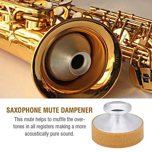 Nannday Sopransaxophon Dämpfer, B-Saxophon Schalldämpfer, Dämpfer aus Aluminiumlegierung, Noise Remove Music Instrument Part für Sax-Übungsanfänger