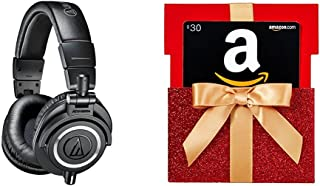 $179 » Audio-Technica ATH-M50x Professional Monitor Headphones with $30 Amazon.com Gift Card