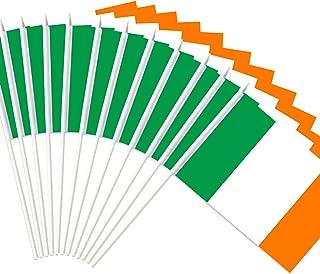 Anley Ireland Stick Flag, Irish National 5x8 inch Handheld Mini Flag with 12