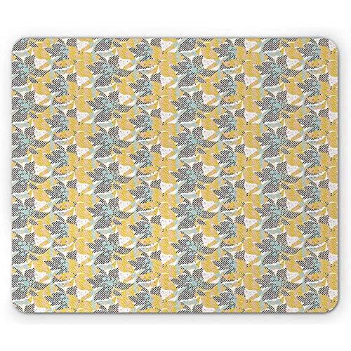 Bloemenmuismat, abstracte digitale grafiek met strepen-bloemen en vuil-verf spuit de afbeelding, meerdere kleuren