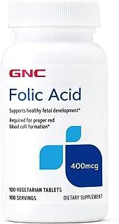 GNC Folic Acid 400mcg, Supports Healthy Fetal Development