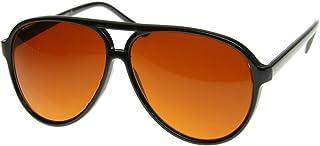 Retro Large Plastic Aviator Sunglasses with Blue Blocking Driving Lens Ditka Hangover Alan Burt Macklin FBI