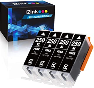 E-Z Ink (TM) Compatible Ink Cartridge Replacement for Canon PGI-250XL PGI 250 XL to use with PIXMA MX922 MX722 MG5420 MG5520 MG5620 MG6320 MG6420 MG6620 MG7120 MG7520 iP8720 (Large Black) 4 Pack