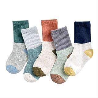 5 Pares De Calcetines Para Niños Primavera Y Otoño Calcetines De Algodón Para Niños Calcetines Para Niños Y Niñas Calcetines Lindos De 1-3-5 Años