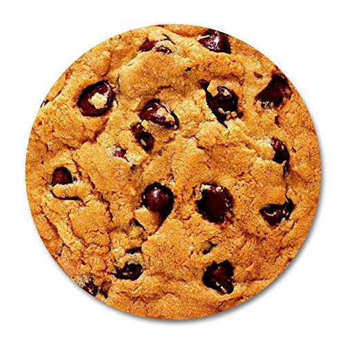 Muismat voor koekjes met chocoladespatels, rond, koekjes met lekkere chocolade