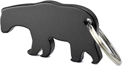 Swatom Bear Aluminum Alloy Beer Bottle Opener Keychain Key Tag Chain Ring Accessories