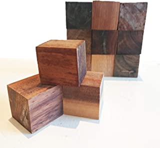 【送料無料】お得 50個セット DIY 木材 チーク系ブロック材 角材 キューブ 無垢材 立方体 積み木 ブロック ディスプレイ 5㎝×5㎝×5㎝【ワールドデコズ】