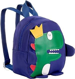 Mochila Infantil 3D Dinosaurio, Toddler Mochila Escolar, Bolso de Bandolera, Bolso de Hombro de Bolso, Bolsa de Mensajero para Niñas Niños 1-3 años, 17x9x19 cm (L x W x H) - Azul