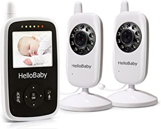 HelloBaby Wireless Video Baby Monitor with Digital 2 Camera, Night Vision Temperature Monitoring & 2 Way Talkback System, ...